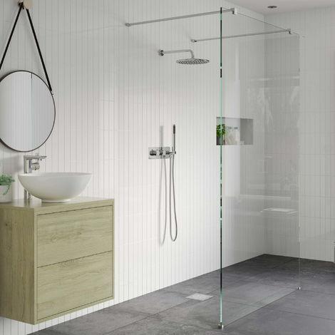 RefleXion 8 Walk Through Wetroom Panel & Arm - 1200mm