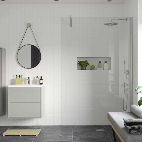RefleXion 8 Wetroom Panel & Support Bar - 500mm
