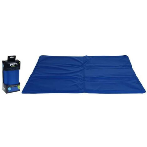 Refreshing mat for dogs and cats - blue - 40x50cm