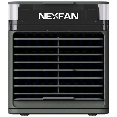 Refrigerador de aire portatil, 3 velocidades, con lampara LED UVC, negro