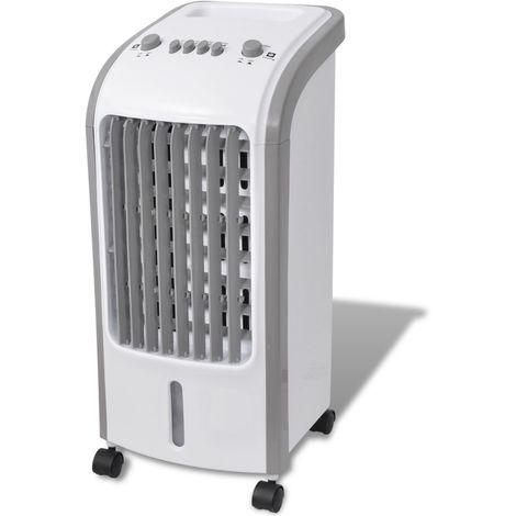 Refroidisseur d'air 80 W 5 L 270 m3/h 25 x 26 x 56 cm gris et blanc