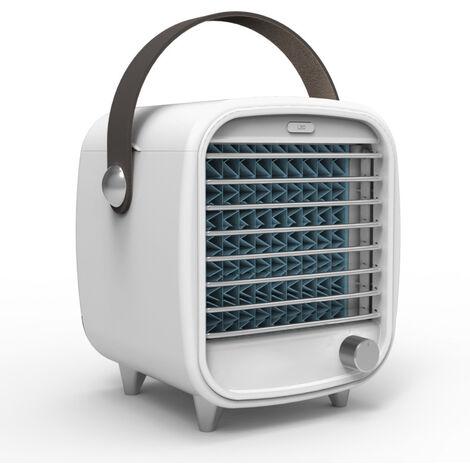 Refroidisseur d'air Portable Climatiseur Mobile USB,4 en 1 Ventilateur Climatiseur Silencieux Humidificateur Purificateur,Mini Refroidisseur d'air Personnel LED pour Maison Bureau Chambre