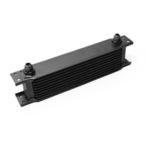 Refroidisseur d'huile noir pour moteur en Aluminium 10 Rangées d'ailettes Oil Cooler Radiateur
