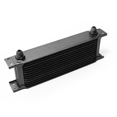 Refroidisseur d'huile noir pour moteur en Aluminium 13 Rangées d'ailettes Oil Cooler Radiateur