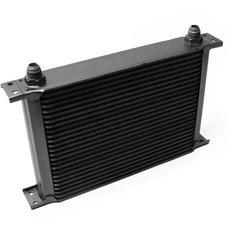 Refroidisseur d'huile noir pour moteur en Aluminium 25 Rangées d'ailettes Oil Cooler Radiateur