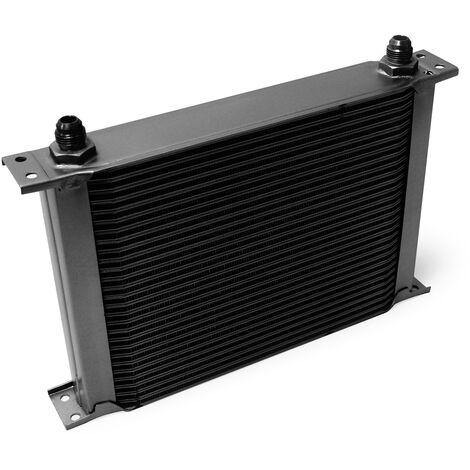 Refroidisseur d'huile noir pour moteur en Aluminium 28 Rangées d'ailettes Oil Cooler Radiateur