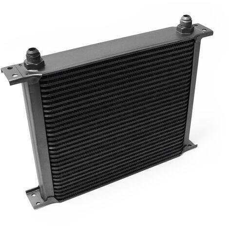 Refroidisseur d'huile noir pour moteur en Aluminium 30 Rangées d'ailettes Oil Cooler Radiateur