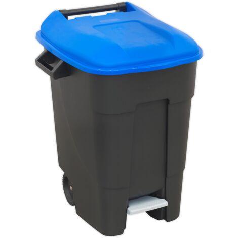 Refuse/Wheelie Bin with Foot Pedal 100ltr - Blue