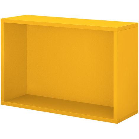 en.casa ® Regal 30x30x15cm Senfgelb Wandregal Büroregal Hängeregal Kombinierbar