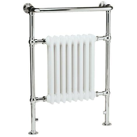 Regal Traditional White & Chrome Heated Towel Rail Radiator
