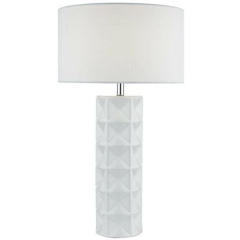 Regalo lámpara de sobremesa cerámica y blanco 1 bombilla