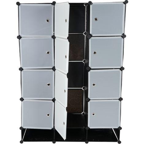 Regalsystem Cairns T306, Steckregal Garderobe Kleiderschrank, 8 Boxen je 37x37x47cm schwarz