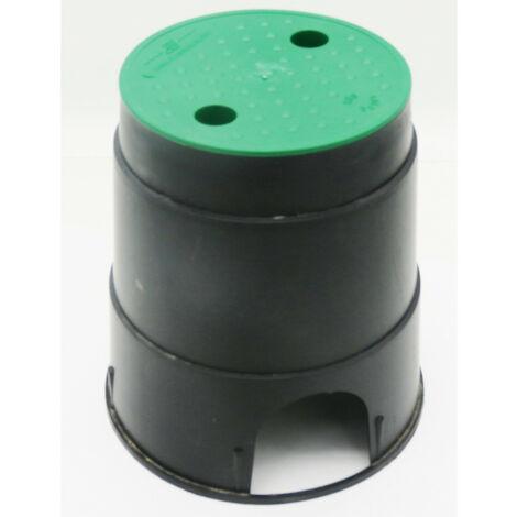Regard pour vanne d'arrosage, forme rond de 21 cm de base et hauteur 23 cm.