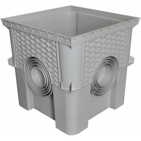 Regard / réhausse 40 x 40cm collecteur des eaux pluviales (livré sans Couvercle, Dispo sur Le site: Article Couvercle COR40)