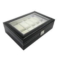 Regarder la boite de rangement Boîte à montre boîtier rangement bijoux Présentoir 12 place