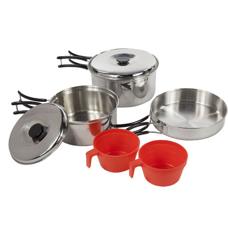 Regatta Great Outdoors Compact Steel Camping Cooking Set (One Size) (Silver)