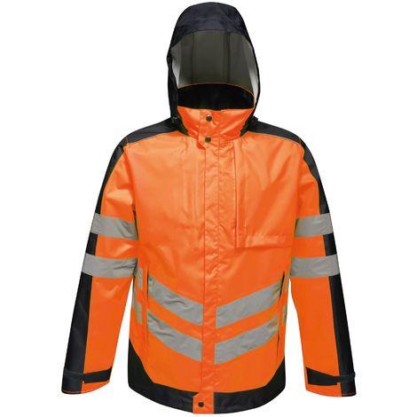 Regatta Mens Hi-Vis Waterproof Insulated Reflective Jacket