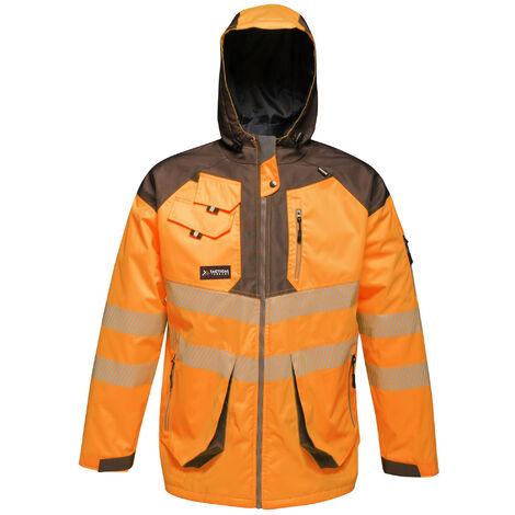 Regatta Mens Hi-Vis Waterproof Reflective Parka Jacket