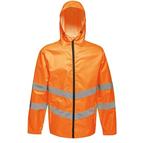 Regatta Unisex Hi Vis Pro Packaway Reflective Work Jacket