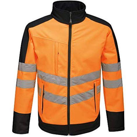 Regatta Unisex Hi Vis Pro Reflective Softshell Work Jacket