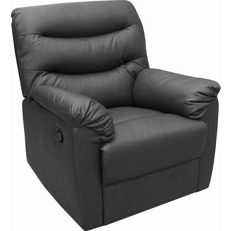 Regency Recliner Chair - Faux Leather