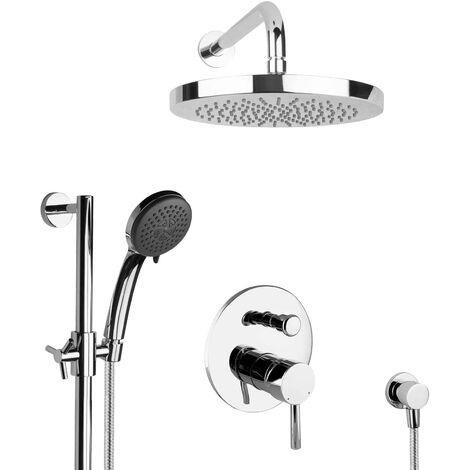 Regendusche Dusch Set unterputz Duschsystem Duschstange rund