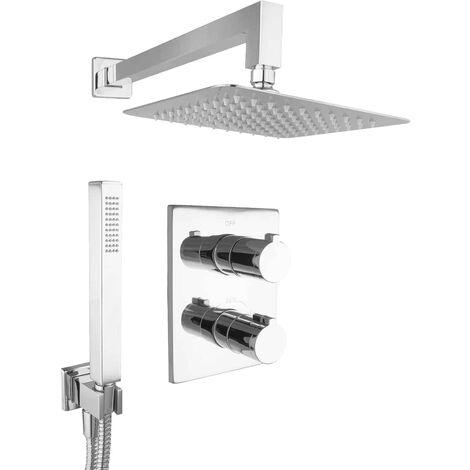 Regendusche Dusche Komplett Set Duschsystem Unterputz 20cm Hochwertig