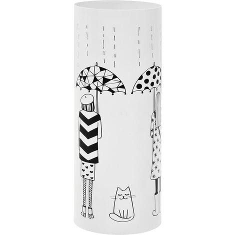 Regenschirmständer Frauen-Design Stahl Weiß -