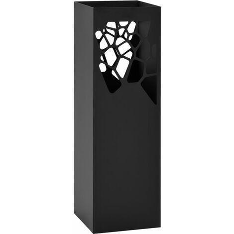 Regenschirmständer Steinen-Design Stahl Schwarz -