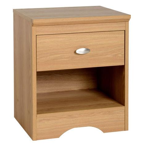 Regent 1 Drawer Bedside Cabinet Teak Effect Veneer
