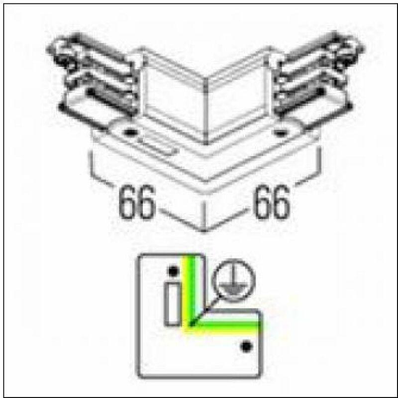 0.A4858.0010 – BINARIO 3 ACC.CURVA 90GR SPECULARE BIANCO - Reggiani