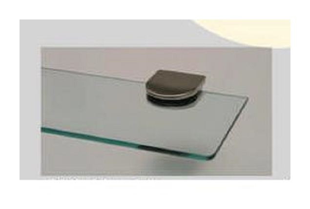 Reggimensola Per Mensole Vetro.Reggimensola Per Mensola In Vetro Cristallo Max 10 Mm 2 Pz Colore Oro