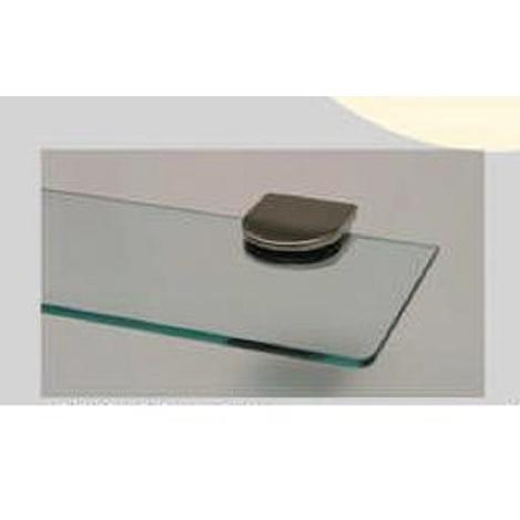 Supporti Mensole Cristallo.Reggimensola Per Mensola In Vetro Cristallo Max 10 Mm 2 Pz Colore Oro