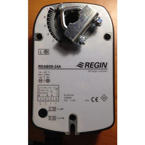 Regin RDAB5S-24A - Register motor 4 Nm with reminder spring