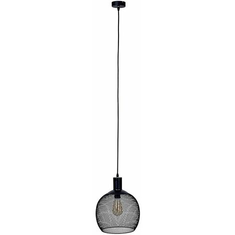 Regina Electric Mesh Ceiling Pendant - Black - Matt Black