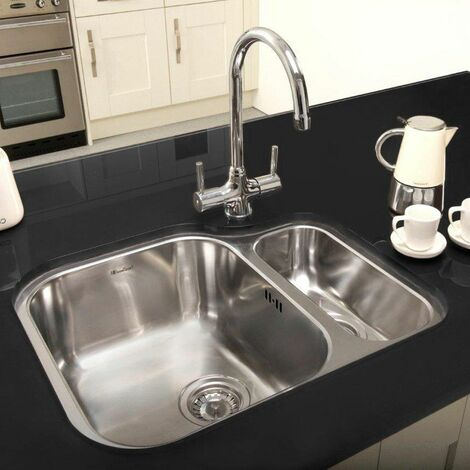 Reginox Alaska Undermount 1.5 Bowl Kitchen Sink Stainless Steel