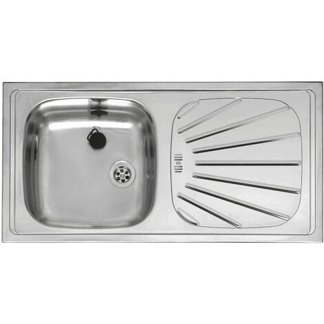 Reginox Alpha10 Inset Stainless Steel Kitchen Sink Single Bowl Waste Included