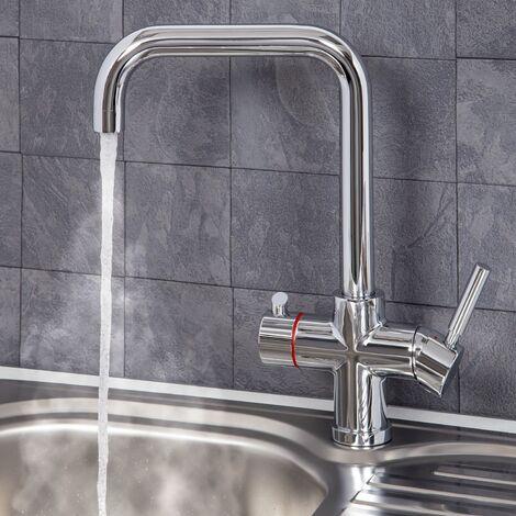 Reginox Amanzi 3in1 Instant Hot Water Kitchen Tap Includes Tank & Filter Chrome