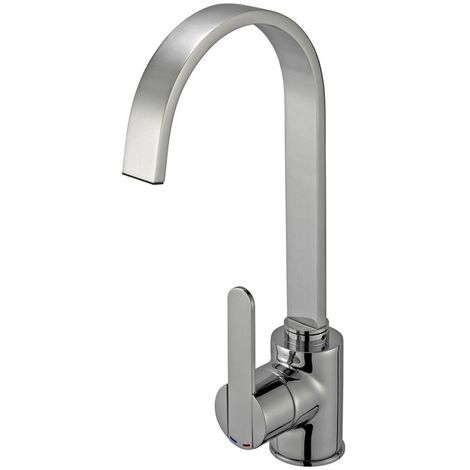 Reginox Amur Brushed Steel Kitchen Sink Mixer Tap
