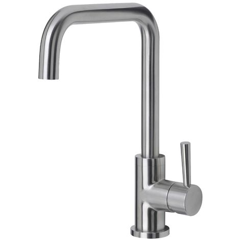 Reginox Ascari Brushed Steel Single Lever Kitchen Mixer Tap