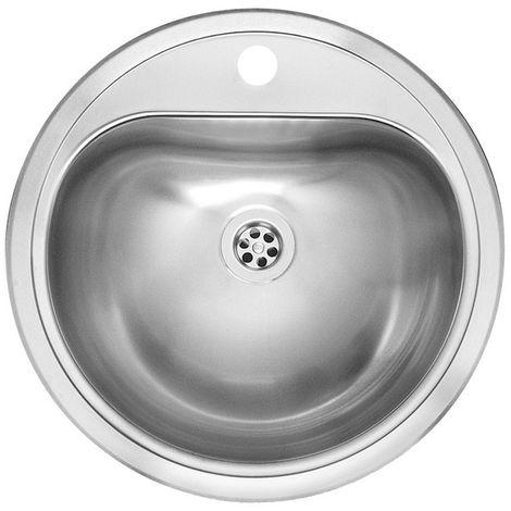 "main image of ""Reginox Atlantis CC (L) Integrated Stainless Steel Single Bowl Sink"""