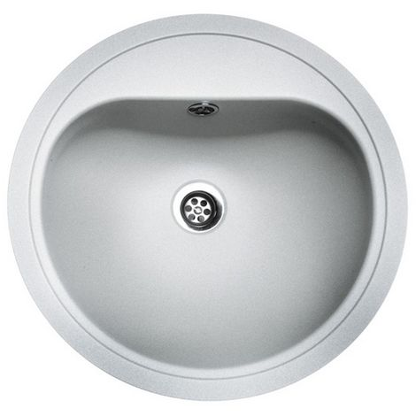 Reginox Atlantis Stainless Steel White Single Bowl Sink