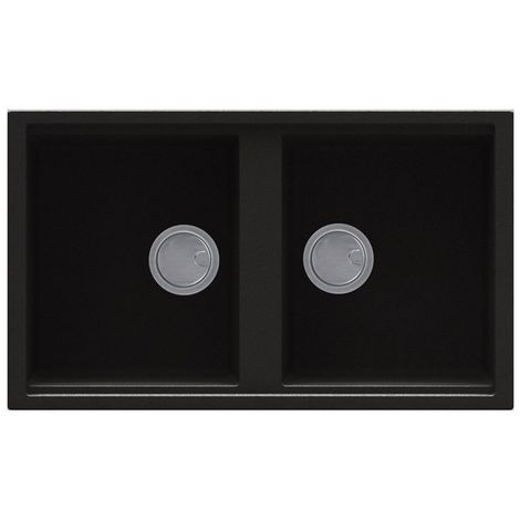 Reginox Best 450 Granite Black Two-Bowl Sink