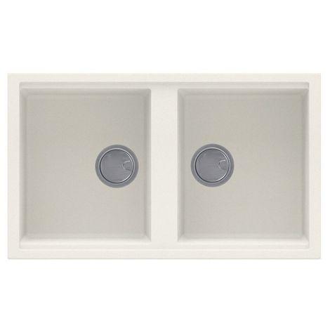 Reginox Best 450 Granite Cream Double Bowl Reversible Sink