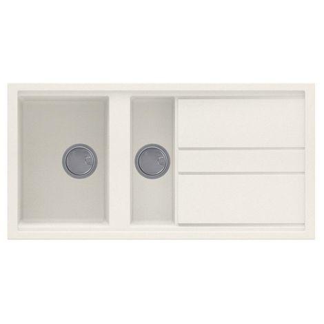 Reginox Best 475 Granite Cream Single & Half Bowl Reversible Sink