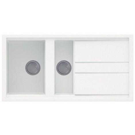 Reginox Best 475 Granite White Single & Half Bowl Reversible Sink