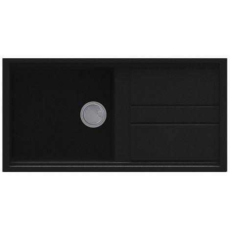 Reginox Best 480 Granite Black Single Bowl Reversible Sink