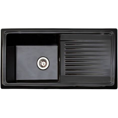 Reginox Black Ceramic Single Bowl Kitchen Sink