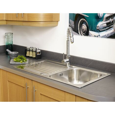 Reginox Centurio Kitchen Sink 1 Bowl Waste Reversible