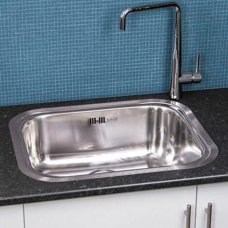 Reginox Chicago Integrated Kitchen Sink Stainless Steel 1 Bowl